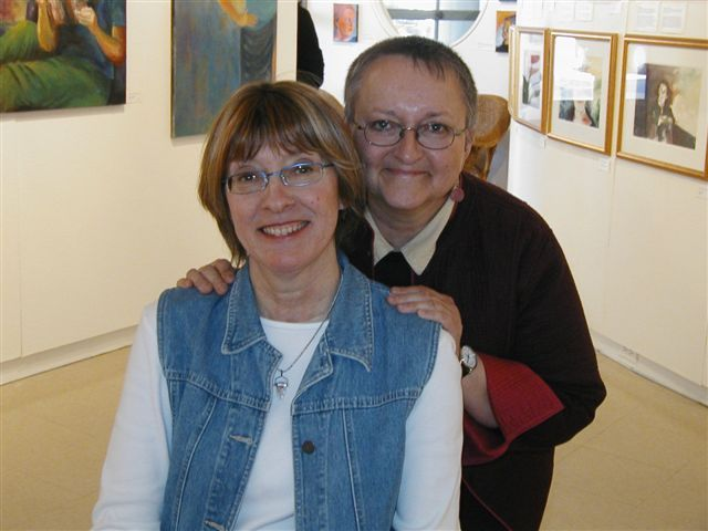 Dianne and Norene at the Gallery Show